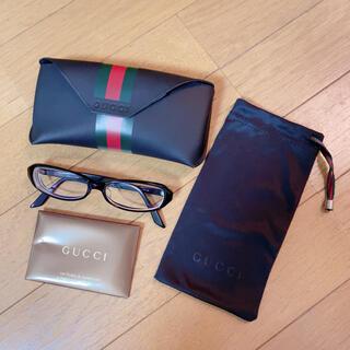 Gucci - gucci グッチ 黒縁 フレーム メガネ 伊達眼鏡 シェリーライン