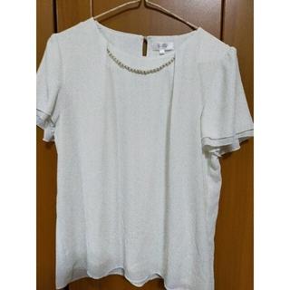 アオヤマ(青山)のパール アクセサリー付 2WAY ブラウス スーツインナー 半袖ブラウス(シャツ/ブラウス(半袖/袖なし))