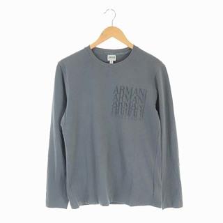 アルマーニ コレツィオーニ(ARMANI COLLEZIONI)のアルマーニ コレツィオーニ カットソー Tシャツ 長袖 ロゴ L グレー(Tシャツ/カットソー(七分/長袖))