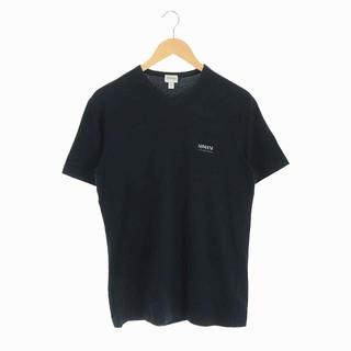 アルマーニ コレツィオーニ(ARMANI COLLEZIONI)のアルマーニ コレツィオーニ Tシャツ カットソー 半袖 Vネック ロゴ L 黒(Tシャツ/カットソー(半袖/袖なし))