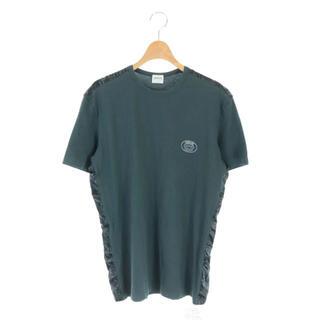 アルマーニ コレツィオーニ(ARMANI COLLEZIONI)のアルマーニ コレツィオーニ Tシャツ カットソー 半袖 ロゴ 切替 XL 緑(Tシャツ/カットソー(半袖/袖なし))