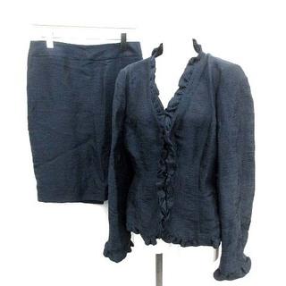 アルマーニ コレツィオーニ(ARMANI COLLEZIONI)のアルマーニ コレツィオーニ セットアップ ジャケット スカート 42 L 紺(スーツ)
