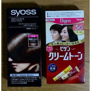 ホーユー(Hoyu)のsyossヘアカラー4-N クラシックブラウン、ビゲンクリームトーン5G深い栗色(白髪染め)
