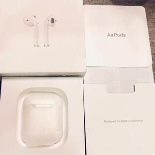 アップル(Apple)の美品 Apple AirPods 第2世代 MV7N2J/A 使用期間 1週間(ヘッドフォン/イヤフォン)