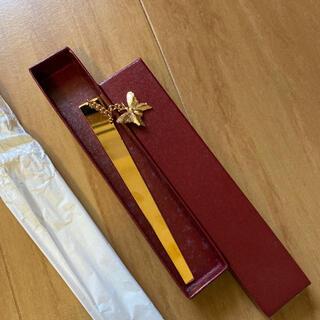 新品 本のしおり 蝶々 ゴールド(しおり/ステッカー)