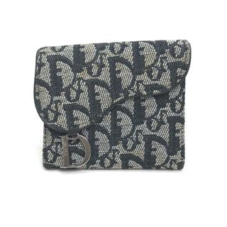 Christian Dior - クリスチャンディオール トロッター 名刺入れ 三つ折り カードケース ブラック