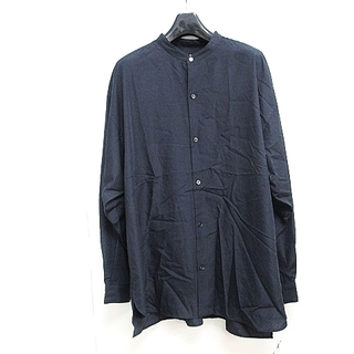 アダムエロぺ(Adam et Rope')のアダムエロペ オーバーサイズ スパンローンバンドカラーシャツ 長袖 紺 L(シャツ)