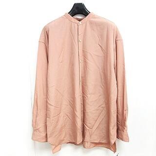 アダムエロぺ(Adam et Rope')のアダムエロペ オーバーサイズ スパンローンバンドカラーシャツ 長袖 ピンク M(シャツ)