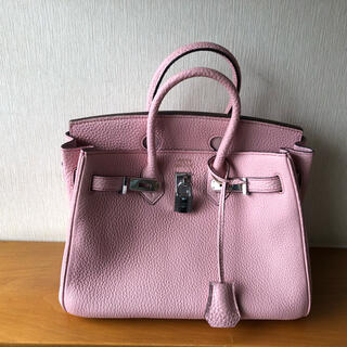 本革 ハンドバッグ/ミニサイズ さくらピンク