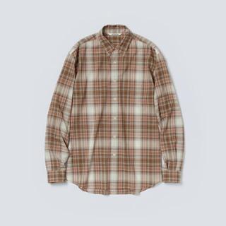 COMOLI - AURALEE 21AW ウールチェックシャツ ベージュ サイズ4 新品未使用