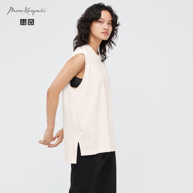 UNIQLO(ユニクロ)のUNIQLO × mame ☆ エアリズムコットンオーバーサイズT レディースのトップス(Tシャツ(半袖/袖なし))の商品写真