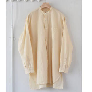 COMOLI - 19SS comoli エクリュ バンドカラー シャツ サイズ3