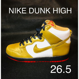 NIKE - 【美品】NIKE DUNK HIGH ナイキ ダンクハイ ゴールド×ホワイト
