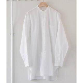 COMOLI - 21SS comoli バンドカラーシャツ ホワイト コモリ