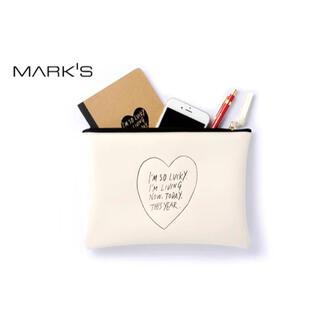 マークス(MARK'S Inc.)のMARK'S マークス DrawingHeartドローイングハートフラットポーチ(ポーチ)