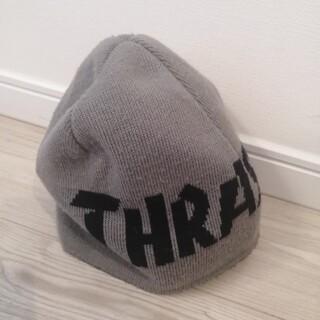 THRASHER - スラッシャー ニット帽 リバーシブル グレー×ブラック