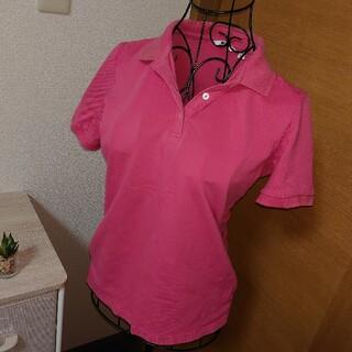 ユニクロ(UNIQLO)のUNIQLO  ポロシャツ  size M  ピンク(ポロシャツ)