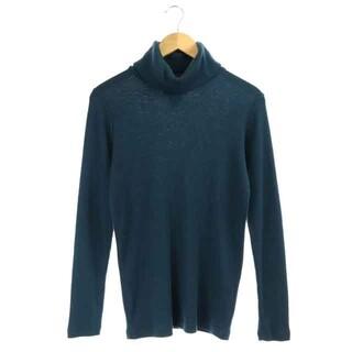 グラム(glamb)のグラム ニット セーター 長袖 刺繍 タートルネック 2 青緑 ブルー グリーン(ニット/セーター)