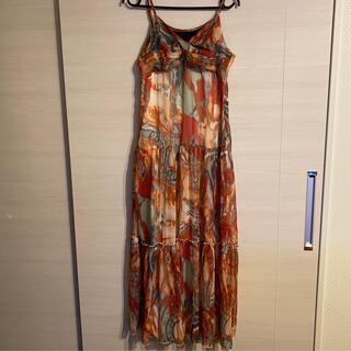 サマードレス サイズ調整可能 Mサイズ 美品❗️(ロングワンピース/マキシワンピース)
