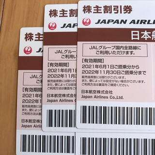 JAL 日本航空 株主優待 ブラウン 4枚セット(その他)