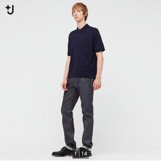 ユニクロ(UNIQLO)の【新品‼️】ユニクロ +J セルビッジスリムフィットストレートジーンズ ブルー(デニム/ジーンズ)