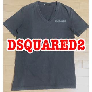 ディースクエアード(DSQUARED2)のDSQUARED2 Vネック 後染め ダメージ加工Tシャツ(Tシャツ/カットソー(半袖/袖なし))