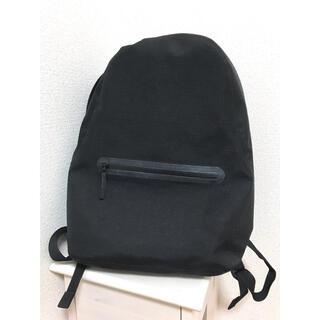 ムジルシリョウヒン(MUJI (無印良品))の防水テープ使いリュックサック黒 無印良品(リュック/バックパック)