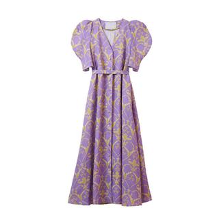 mame - 即完売♡ MYLAN リネン ハートプリントボリュームスリーブドレス ワンピース
