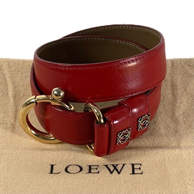 LOEWE(ロエベ)の✨美品✨ アナグラム LOEWE レザー ベルト レディースのファッション小物(ベルト)の商品写真
