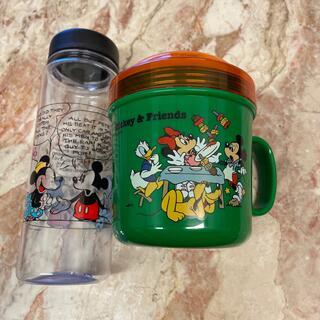 Disney - 送込◆4000円《ミッキー&フレンズカップ型二段式ランチボックス&ボトルセット》