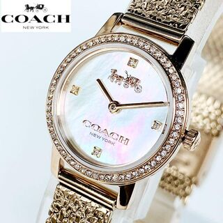COACH - ★スワロフスキー COACHコーチ 腕時計 女性レディース 新品 ゴールド