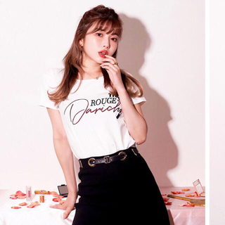 リエンダ(rienda)のリップスティックTシャツ(Tシャツ(半袖/袖なし))