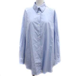 DES PRES - デプレ トゥモローランド スビンコットン オーバーサイズドシャツ 36 S 水色