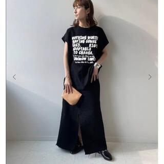 FRAMeWORK - フレームワーク モノトーンプリントTシャツ