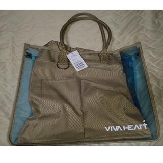 ビバハート(VIVA HEART)のビバハート 2021年 2WAY トートバッグ スケルトン ブルー (バッグ)