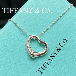 Tiffany & Co. - 新品仕上 ティファニー オープンハート ネックレス エルサ ペレッティ シルバー