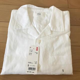 ユニクロ(UNIQLO)の【新品】ユニクロ リネンコットンオープンカラーシャツ(シャツ)