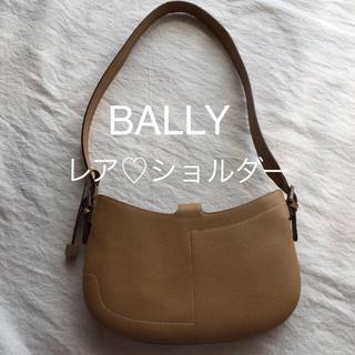 バリー(Bally)の週末限定❗️大幅値下げ!BALLY バリー ♡ レザーショルダーバッグ ベージュ(ショルダーバッグ)