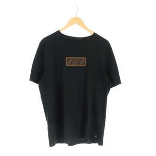 フェンディ(FENDI)のフェンディ FENDI 18AW Tシャツ カットソー XXL 黒 茶(Tシャツ/カットソー(半袖/袖なし))