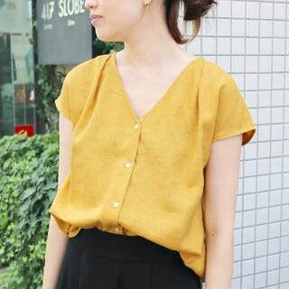 IENA SLOBE - 【美品♡】スローブイエナ 麻入り半袖ブラウス 黄