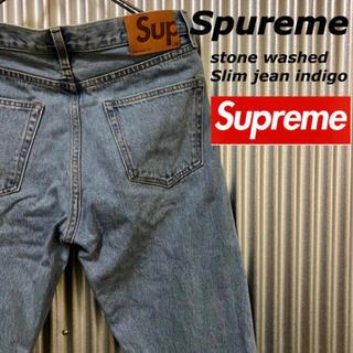 Supreme - Supreme Stone Washed  Slim Jeans 30