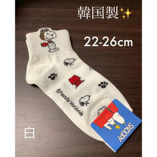 スヌーピー(SNOOPY)の韓国製✨ キャラクターソックス 22-26cm スヌーピー(ソックス)