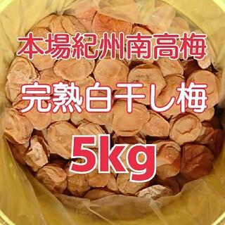 【蔵出し】本場紀州南高梅 みなべ町産完熟白干し梅 A~B級5kg樽入り(漬物)