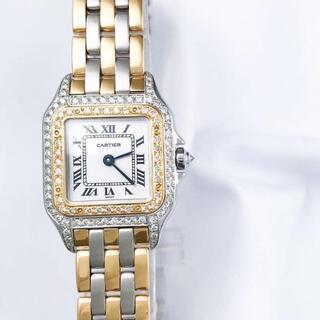 Cartier - カルティエ パンテール 3ロウ コンビ ダイヤ レディース 腕時計