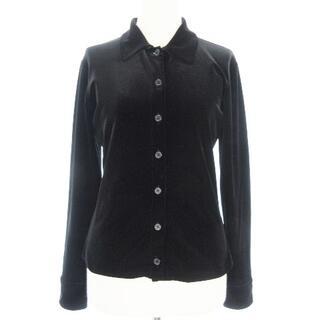 ラルフローレン(Ralph Lauren)のラルフローレン RALPH LAUREN ベロアシャツ 長袖 ブラック M(シャツ/ブラウス(長袖/七分))