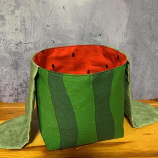 お弁当袋/巾着袋/小物入れ/お裾分け袋/プレゼント/リバーシブル/おにぎり袋