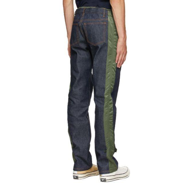 sacai(サカイ)のSACAI x APC デニムパンツ グリーン Sサイズ 新品 メンズのパンツ(デニム/ジーンズ)の商品写真