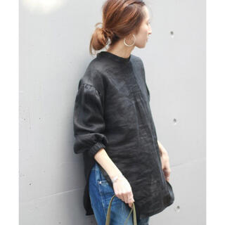 FRAMeWORK - 金子綾×FRAMeWORK マオカラー ロングシャツ
