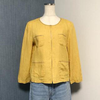 NOLLEY'S - NOLLEY'S イエロー系 七分袖のリネンジャケット