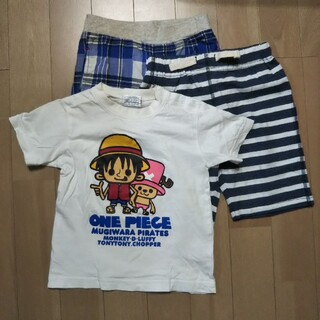 ムージョンジョン(mou jon jon)のmoujonjon CLASSIC パンツ 二点 ワンピース Tシャツ 95(パンツ/スパッツ)